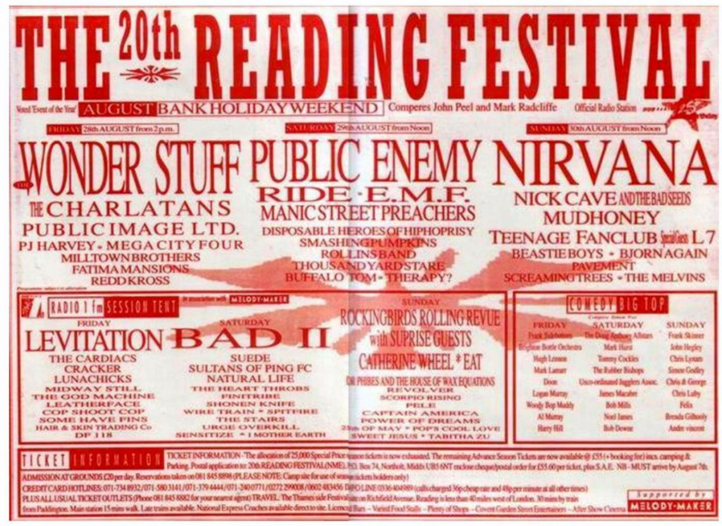 A shoegazers memory of Reading Festival 1992
