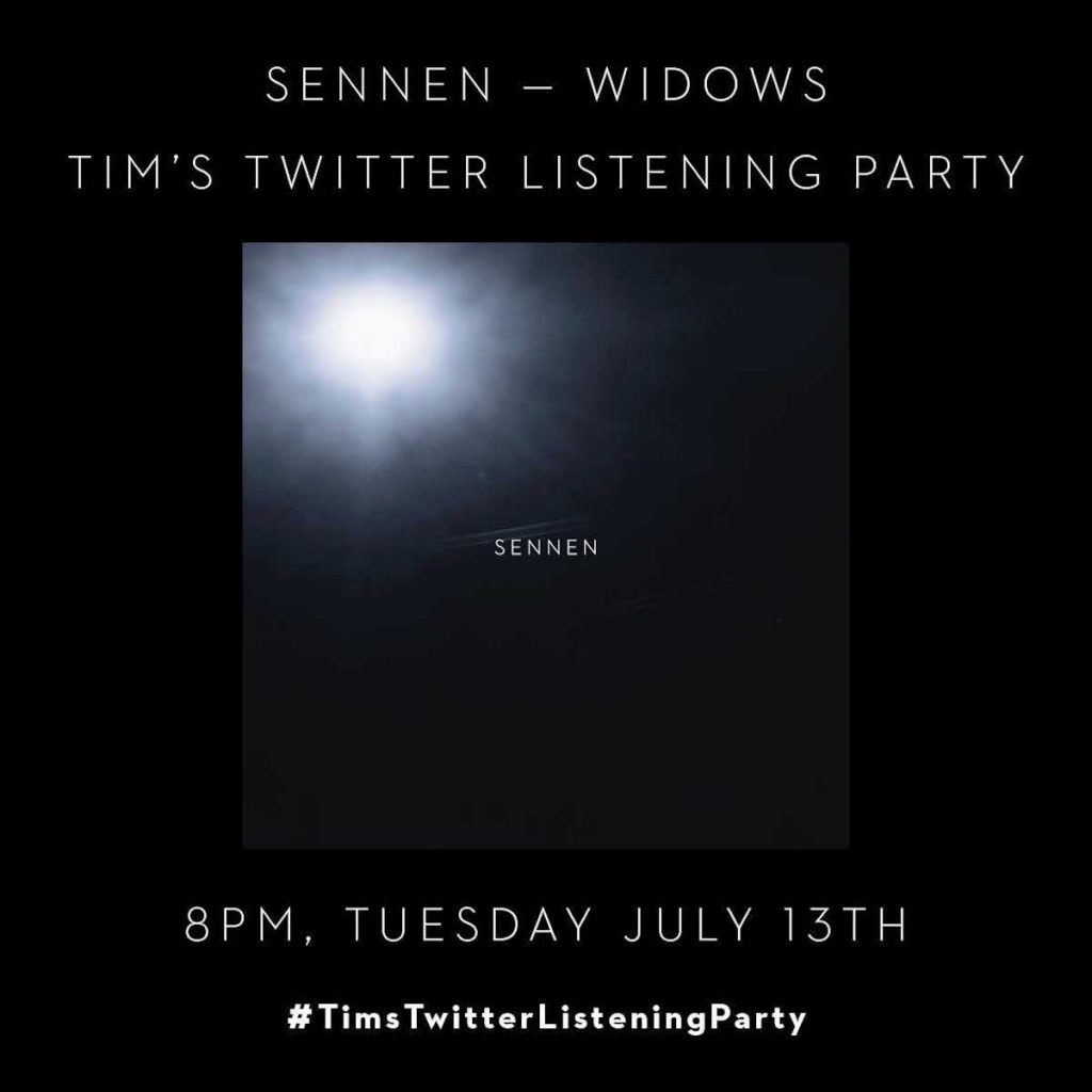 Rave Down and Sennen join Tim's Listening Party